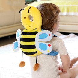 Learning For Infants Australia - Colorful Bee Cute Baby Infant Toddler Newborn Head Back Protector Safety Pad Head Protection Pad for Baby learning to walk