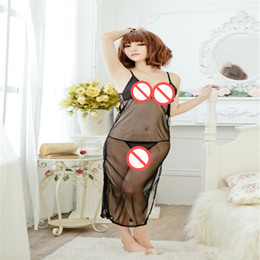 adult sex suits NZ - Sexy adult sexy dress transparent lace nightdress maid underwear cheongsam perspective uniform passion suit couple sex toys