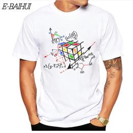 Math Shirts Australia - E-BAIHUI New Fashion T SHIRTS Math Work Design Men T-shirt Short Sleeve Hipster Tops Math cube Printed t shirts Cool tee CG001-8