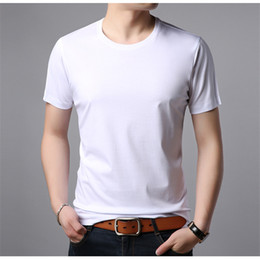 Wholesale pure male resale online – Mens Designer T Shirts Pure Color Clothes Casual Short Sleeve Crew Neck T Shirts Males Clothing