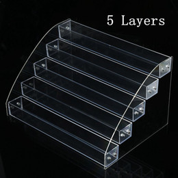 lipstick racks 2019 - 3 To 7 Tier Cosmetics Nail Polish Rack Display Holder Plastic Box Acrylic Stand Case Lipstick Organizer Storage Nail Art