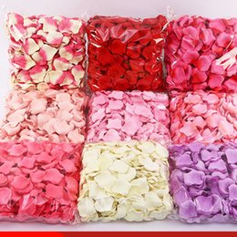 Silk White Rose Petals Wholesale Australia - Hot sale 11000pcs kg Cheap Silk Rose Flower Petals Non-woven fabric Artificial Flowers Wedding Birthday Party Decorations free shipping