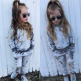 $enCountryForm.capitalKeyWord Australia - Pudcoco Girl Set 1Y-6Y US Autumn Spring Infant Kids Baby Boys Girls Striped Velvet Tracksuit Outfits