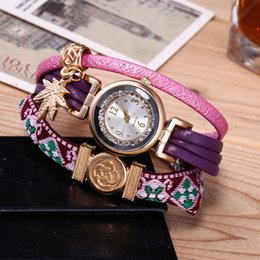 Leaf Bracelet Watch Australia - 2019 Brand New Exquisite Casual Women's Watches Fashion Lady PU Strap Bracelet Wristwatches Alloy Leaf Quartz Watches Wholesale LW072