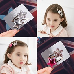 $enCountryForm.capitalKeyWord Australia - Handmade Fashion Kids Girl Bowknot Hair Clips Barrette Hairpin Hair Accessories Baby Multicolor Sequin Butterfly Bow Crown Hair Clip Snap