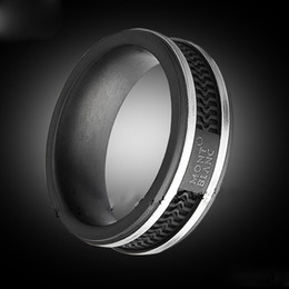 black stone rings men UK - Classic style hot High quality fashion titanium steel black ring classic ring men for hipsters and couples gifts
