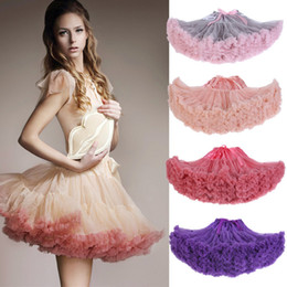 short tutu skirts for women NZ - 2020 Cheap In Stock Puffy Ruffles Tutu Short Skirts Women Mini Party Dresses Women Petticoats for Parties CPA835