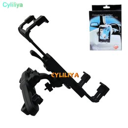 Ipad clIp for car online shopping - Car Back Seat Holder Degree Rotation Bracket Clip For iPad Air Pro New Mini GPS Samsung Huawei Tablet PC Retailbox