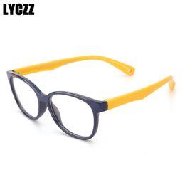 37090562a4a4 LYCZZ Kids Glasses Frame for Children Eyeglasses Flexible TR90 Silicone Girls  Optical Frames for Boys Soft