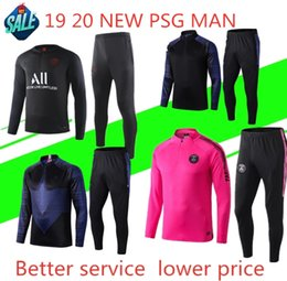 2019 2020 Psg رياضية 19 20 Jordam PSG كرة القدم للركض الرجال سترة MBAPPE POGBA Survetement Paris air man suit suit