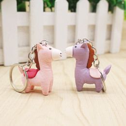 horse wedding gifts NZ - Kawaii Horse Keychain Keyring Baby Shower Birthday Party Favor Wedding Gift