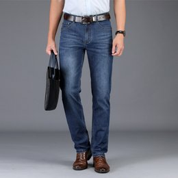 $enCountryForm.capitalKeyWord Australia - Straight Jeans Men Spring Summer Business casual jeans lightweight breathable pants Large big size stretch Denim Long Trousers