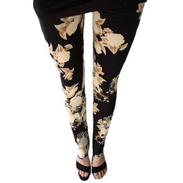 9da2e577df8f63 New Rose Flower Printed Leggings Fashion Sexy Women Lady Slim High Elastic  Cotton Pants Multiple Colors Styles Trousers In Stock