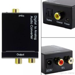 $enCountryForm.capitalKeyWord Australia - Digital Adaptador Optic Coaxial RCA Toslink Signal to Analog Audio Converter Adapter with fiber Optical cable 1000 pieces up including duty