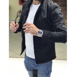 28ae1b9f152 New Men s Suede Fabric Outdoor Winter Zipper Warm Coat Jacket Outwear