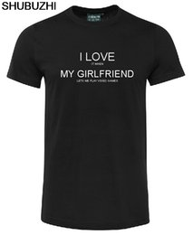 Slim gameS online shopping - cotton Fashion Cotton Slim Fit Top I LOVE IT WHEN MY GIRLFRIEND LETS ME VIDEO GAMES T SHIRT SHIRT FUNNY HUMOR T Shirt