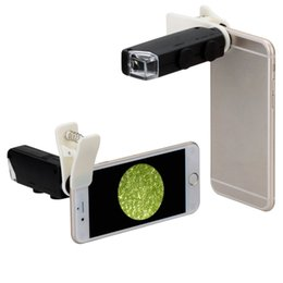 $enCountryForm.capitalKeyWord NZ - 60X to 100X Zoom LED Microscope Magnifier Micro Mobile Phone Lens Camera with Universal Clip For iPhone Samsung HTC Huawei