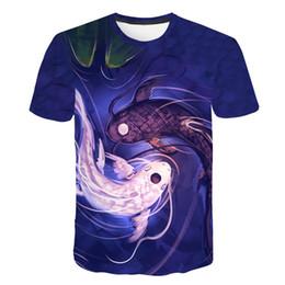 China 2019 New Men Leisure 3D Print t shirt Funny Shark printed Surfing men and women tshirt Harajuku Fish 3D T-shirt Asian size m-5xl cheap man surf shirt suppliers