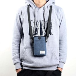 9f61fa4e7 2018 New Casual Men Multifunctional Waterproof Phone Bag Mini Crossbody Bags  with Earphone Hole LBY2018