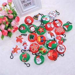 Toptan satış Dekorasyon Charms Süsler Peluş Anahtarlık Parti Hediye Asma Noel Peluş Anahtarlık Noel ağacı Kolye Anahtar Yüzükler