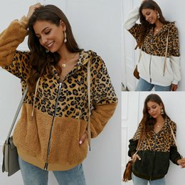 Wholesale teddy jackets for sale - Group buy Women s Fashion Leopard Printed Teddy Bear Fleece Coat Ladies Jacket Hooded Overcoat Outwear Coat