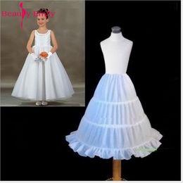 $enCountryForm.capitalKeyWord NZ - Lace White Wedding Flower Girl Petticoat Three Hoops Ball Gown Petticoat Crinoline