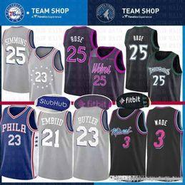 e937e113e City Jimmy 23 Butler Philadelphia Jersey 76ers Joel 20 Embiid Derrick Ben 25  Simmons Rose Minnesota Miami Dwyane 3 Wade Heat Timberwolves