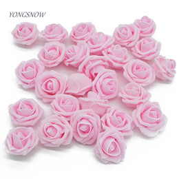 White Rose Crafts Australia - 20pcs lot 4cm Crimping PE Foam Rose Artificial Flower Head For Confetti DIY Garland Craft Gift Box Hairband Wedding Decor Supply D19011101