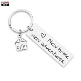 wholesale gifts homes NZ - Housewarming Keychain Gifts for New Home Gift First Home Keyring Best Neighbor Gift Realtor Closing Gifts New Adventures Present