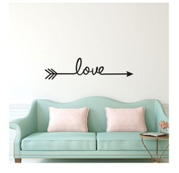 Multiple Art Australia - multiple Colour Love arrow decals wall sticker living room bedroom vinyl engraved wall decals home decoration stickers