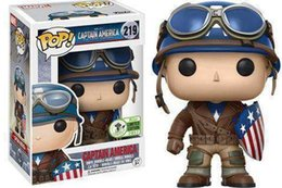 Captain America Figure NZ - FUNKO Pop CAPTAIN AMERICA Model Figure Collectible Model Toy for Gift