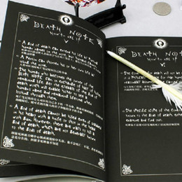 Wholesale death notes for sale – custom Hot Sale Death Note Notebook Feather Pen Book Japan Anime Writing Journal New dandys