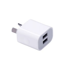 Mobile Interfaces NZ - Dual interface 5V 2A AU Plug USB Wall Charger Power Travel AC Adapter for Smart Phone Cell Phone Mobile Phone