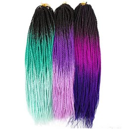 Chinese  Xiuyuan Hair Synthetic Ombre Kanekalon Braiding Hair Senegalese Twist Crochet Braids Hair Extensions 24inch 30 Roots Pack manufacturers