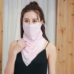 Cover mouths online shopping - Outdoor Half Face Protection Mask Windproof Dust proof Mouth Face Mask Sunshade Ice Silk Neck Cover Protector Masks Scarf