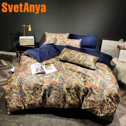 Colorful Modern Bedding NZ - Svetanya Colorful Bed Linens Egyptian Cotton Bedding Set Digital Print Queen Full King Size