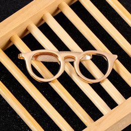 $enCountryForm.capitalKeyWord Australia - New Formal Business Alloy Gold Glasses Shape Tie Clip for Men Suits Necktie Clips Tie Bar Clasp Pin Shirt Pocket Clip Jewelry