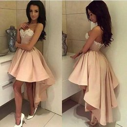 $enCountryForm.capitalKeyWord Australia - Sexy Sweetheart Backless Lace High-low Prom Dresses Short Cocktail Dress Sweety Homecoming Dress Graduation Party Gowns