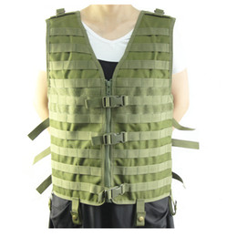 shooting clothing Australia - Hunting Tactical Camouflage Molle Vest Wargame Combat Outdoor Vest CS Outdoor Shoot Hunting Clothes Black