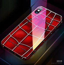 $enCountryForm.capitalKeyWord Australia - New Mobile phone case for iphone xs Xr max new creative color edge glass apple 8 7 6 Avengers mobile phone shell glass painting DHL