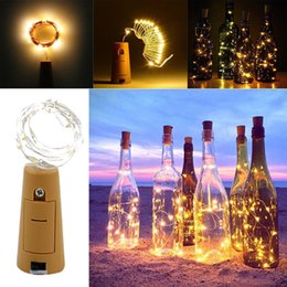 $enCountryForm.capitalKeyWord NZ - 200CM Battery Powered Cork Copper Silver Wire LED Wine Bottle HoliDay Light Lamp for Xmas Party