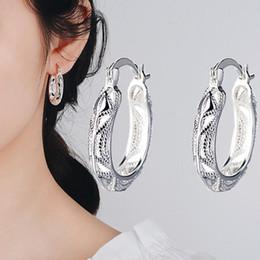 77c4d3933 Women Earrings Casual Carved Hollow U-Shape Circle Hoop Huggies Earrings  Fashion Jewelry Gift