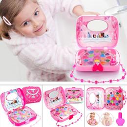 $enCountryForm.capitalKeyWord Australia - New Child Cosmetics Set Safety Lipstick Nail Polish Girls Toy Fashion New Makeup Sets & Kits