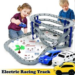 Build Toy Car Australia - DIY Electric Train Track Car Racing Track Toy,Multi-layer Spiral Track Roller Coaster Railway Transportation Building Slot Sets