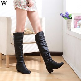 Woman Shoes Boots Australia - 2018 Slim Boots Sexy Over The Knee High Suede Women Snow Boots Women's Fashion Winter Thigh High Shoes Woman Nov28