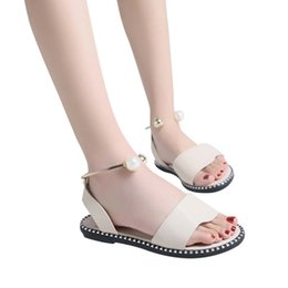 $enCountryForm.capitalKeyWord UK - Women's solid color pearl flat round head comfortable casual shoes flat shoes cool 2019 spring and summer new style