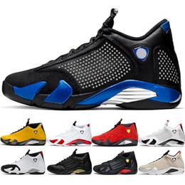 $enCountryForm.capitalKeyWord Australia - Designer 14 Candy Cane 14s Men Basketball Shoes The Last Shot Black Whit Red Yellow Mens Trainer Athletic Sport Sneaker Walking Shoe 41-47