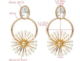 $enCountryForm.capitalKeyWord Australia - Hot sale explosions Europe and the United States Fan glass diamond ring inlaid pearl flower trend girl heart Sen ear accessories