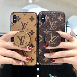 Luxury Designer iPhone caso del iPhone para el 11 Pro XR XS Max X 7 8 Plus iPhone11 casos con sostenedor del soporte de agarre del teléfono en venta