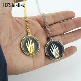 $enCountryForm.capitalKeyWord Australia - 2019 NEW Reaching Hands Enamel Pendant Necklace Friendship Jewelry Kindness Pendants Silver Gold Chain for Sweater